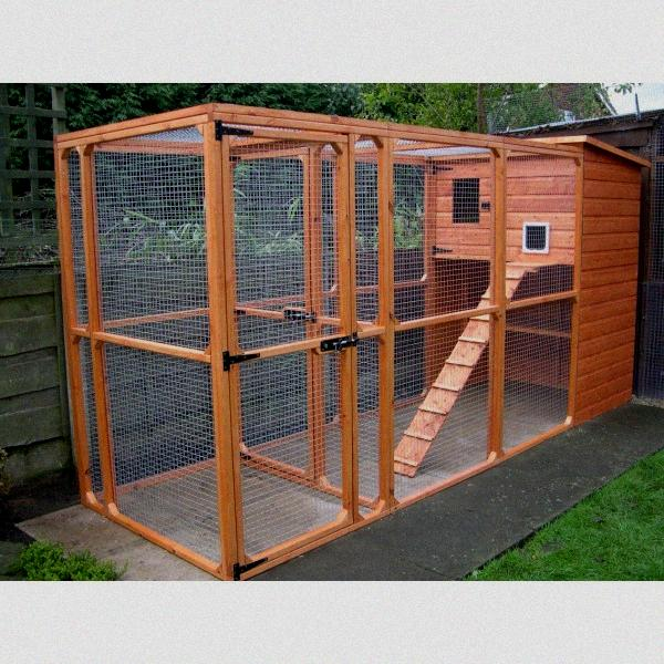 Outdoor Cat Enclosures Connected To House Cat house 2. well done!
