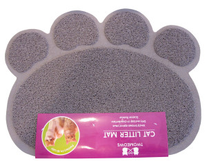 Two Meows Grey Litter Mat
